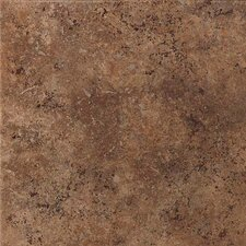 "Vallano 11-13/16"" x 11-13/16"" Glazed Field Tile in Dark Chocolate"