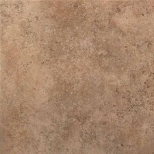 "Vallano 6"" x 6"" Glazed Field Tile in Milk Chocolate"