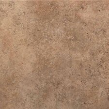 "Vallano 18"" x 18"" Glazed Field Tile in Milk Chocolate"