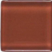 """Legacy Glass 4"""" x 2"""" Glazed Brick Joint Mosaic Tile in Coral"""