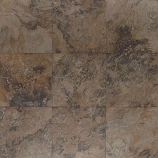 "Amber Valley 3"" x 3"" Glazed Porcelain Floor Tile in Derby Brown"