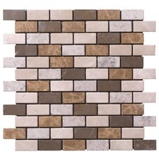 "Peel-n-Stick 12"" x 12"" Brick-Joint Random Mix Mosaic"