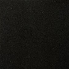"Natural Stone 12"" x 12"" Granite Tile in Absolute Black"
