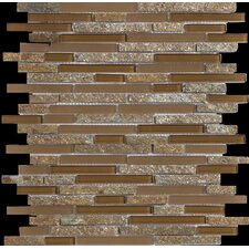 Lucente Random Sized Stone and Glass Linear Mosaic Blend in Venezia