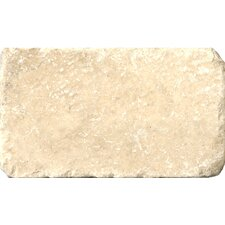 "Natural Stone 3"" x 6"" Travertine Vino Tumbled Tile in Cream"