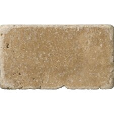 "Natural Stone 3"" x 6"" Travertine Vino Tumbled Tile in Noce"