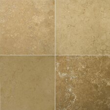 "<strong>Emser Tile</strong> Natural Stone 12"" x 12"" Crosscut Travertine Tile in Noce Classic"