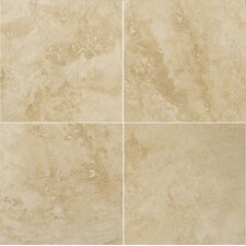 "Natural Stone 18"" x 18"" Crosscut Travertine Tile in Umbria Savera"