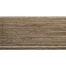 "Strands 12"" x 6"" Horizontal Cove Base Tile Trim in Chestnut"