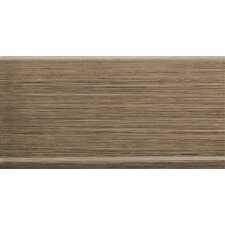 "Strands 6"" x 12"" Horizontal Cove Base in Chestnut"