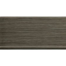 "Strands 12"" x 6"" Horizontal Cove Base Tile Trim in Twilight"