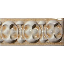 "<strong>Emser Tile</strong> Cape Cod 9"" x 4"" Dawn Stop Accent Tile in Antique Beige Crackle"