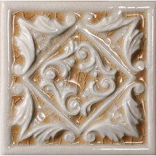 "<strong>Emser Tile</strong> Cape Cod 6"" x 6"" Seashore Accent Tile in Antique Beige Crackle"