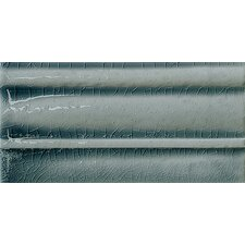 "Cape Cod 9"" x 5"" Crown Base Molding Tile Trim in Ocean Blue Crackle"
