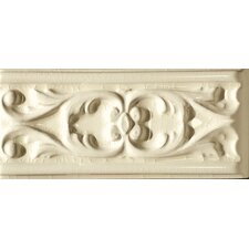 "Cape Cod 9"" x 4"" Seashore Stop Accent Tile in Artisan Cream Crackle"