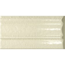 "<strong>Emser Tile</strong> Cape Cod 9"" x 5"" Crown Base Molding Stop Right Tile Trim in Artisan Cream Crackle"