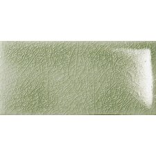 "Cape Cod 3"" x 6"" Double Fire Glazed Ceramic Wall Tile in Willow Green Crackle"