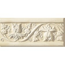 "<strong>Emser Tile</strong> Cape Cod 9"" x 4"" Meadow Stop Accent Tile in Ivory Matte"