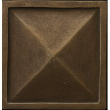 "Renaissance 2"" x 2"" Capri Insert Tile in Antique Bronze"
