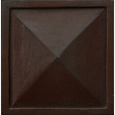 "Renaissance 4"" x 4"" Capri Accent Tile in Rust Iron"