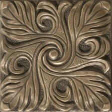 "Renaissance 4"" x 4"" Bari Accent Tile in Antique Bronze"