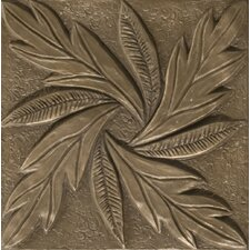 "Renaissance 4"" x 4"" Messina Accent Tile in Antique Bronze"