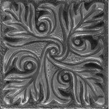 "Renaissance 2"" x 2"" Parma Insert Tile in Antique Nickel"