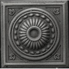 "Renaissance 2"" x 2"" Pompei Insert Tile in Antique Nickel"