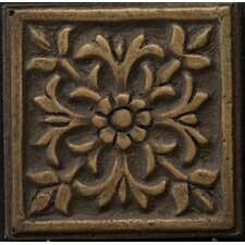 "Renaissance 2"" x 2"" Roma Insert Tile in Antique Bronze"