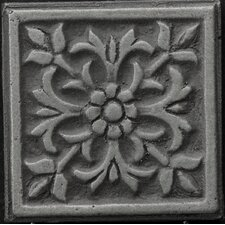 "Renaissance 4"" x 4"" Roma Accent Tile in Antique Nickel"