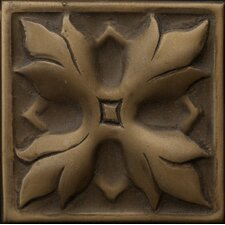 "Renaissance 2"" x 2"" Sicily Insert Tile in Antique Bronze"