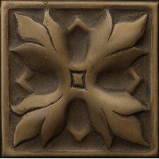 """Renaissance 2"""" x 2"""" Sicily Insert Tile in Antique Bronze"""