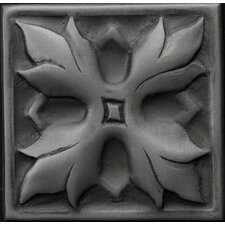 "Renaissance 2"" x 2"" Sicily Insert Tile in Antique Nickel"
