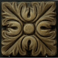 "Renaissance 2"" x 2"" Torino Insert Tile in Antique Bronze"