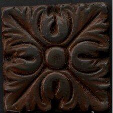 "Renaissance 4"" x 4"" Torino Accent Tile in Rust Iron"