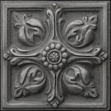 "Renaissance 4"" x 4"" Toscana Accent Tile in Antique Nickel"