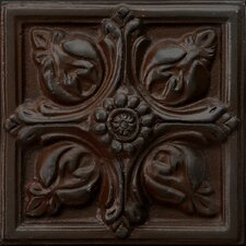 """Renaissance 2"""" x 2"""" Toscana Insert Tile in Rust Iron"""