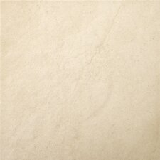 "St Moritz 12"" x 12"" Glazed Floor Porcelain Tile in Ivory"