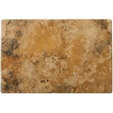 "Natural Stone 16"" x 24"" Tumbled Travertine Tile in Oro"
