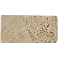 "<strong>Emser Tile</strong> Natural Stone 3"" x 6"" Unfilled and Tumbled Travertine Tile in Mocha"