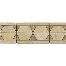 "Natural Stone 12"" x 4"" Dolcetto Travertine Listello"