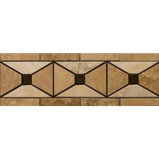 "<strong>Emser Tile</strong> Natural Stone 12"" x 4"" Faloria Travertine Listello"