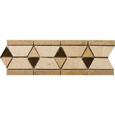"<strong>Emser Tile</strong> Natural Stone 12"" x 4"" Mietres Travertine Listello"