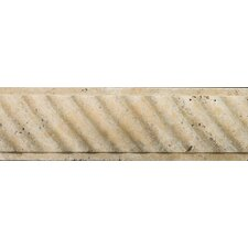 """Natural Stone 12"""" x 4"""" Fontane Ritz Molding in Ivory Classic"""