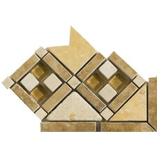 "Natural Stone 4"" x 4"" Falavia Travertine Listello Corner"