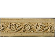 """Natural Stone 12"""" x 4"""" Romansa Tralcio Travertine Molding in Beige"""
