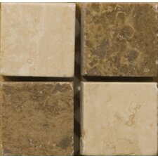 "Natural Stone 2"" x 2"" Scala Travertine Listello Corner"