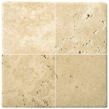 "Natural Stone 1"" x 1"" Travertine Mosaic in Ancient Beige"