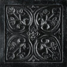 "<strong>Emser Tile</strong> Camelot 4"" x 4"" Guinevere Deco in Iron"