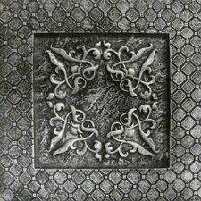 """Camelot 4"""" x 4"""" Igraine Deco in Silver"""